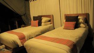 Kibumba tented camp bedrooms (Twins)