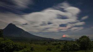 Virunga National Park Congo Bukima Camp outside view