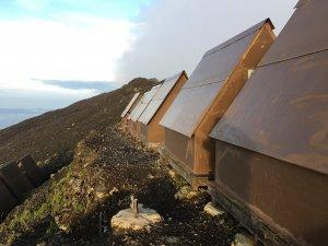 Virunga National Park Congo Nyiragongo Summit Wooden Shelter