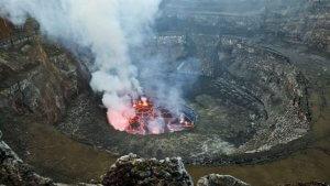 Virunga National Park Congo Nyiragongo Summit lava lake