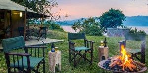 Virunga National Park Congo - Tchegera islands Outside