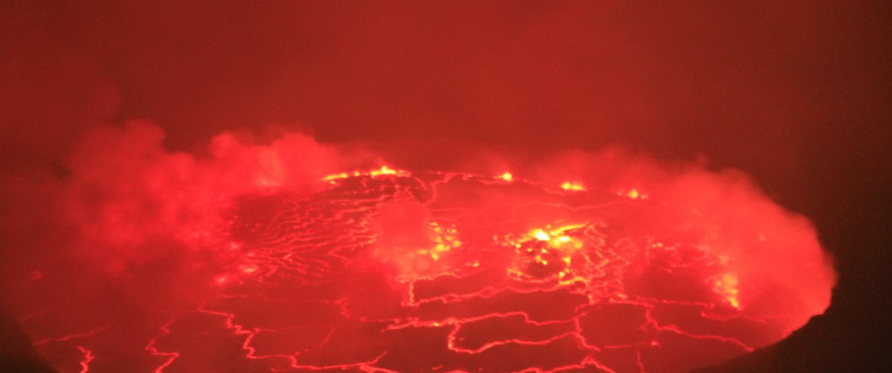 Congo's volcano featuring the world largest lava lake